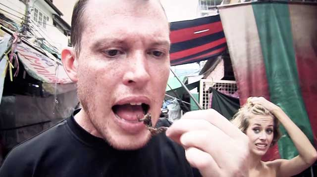 Eating bugs in Bangkok